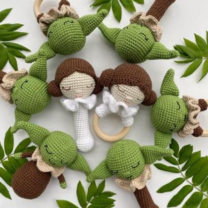 PATTERN Crochet baby alien teething..