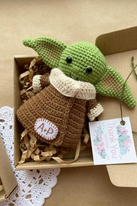 Green baby alien Mandalorian child A new hope Plush alien Star wars theme Star wars birthday Star wars Star war gift Personalized baby alien